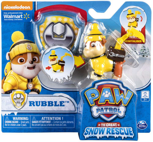 Paw Patrol The Great Snow Rescue Rubble Exclusive Figure