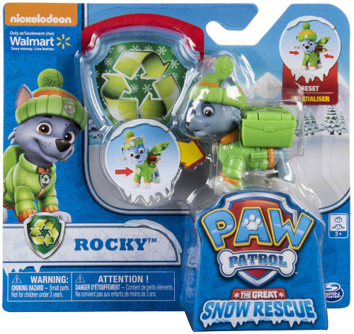 Paw Patrol The Great Snow Rescue Rocky Exclusive Figure