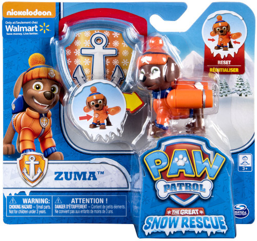 Paw Patrol The Great Snow Rescue Zuma Exclusive Figure