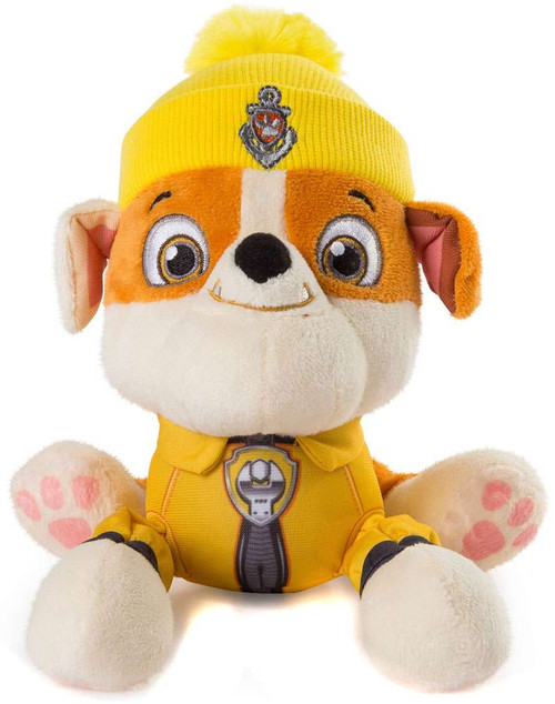 Paw Patrol The Great Snow Rescue Rubble Exclusive 8-Inch Plush