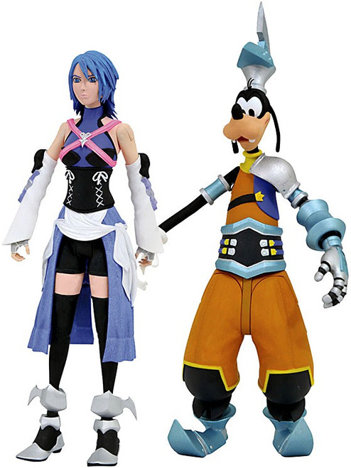 Disney Kingdom Hearts Series 2 Aqua & Goofy (Birth By Sleep) Action Figure 2-Pack