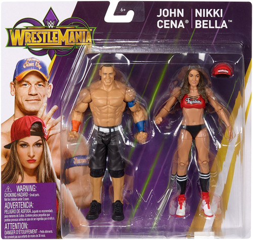 WWE Wrestling Battle Pack WrestleMania 34 John Cena & Nikki Bella Action Figure 2-Pack