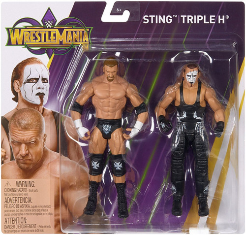 WWE Wrestling Battle Pack WrestleMania 34 Sting & Triple H Action Figure 2-Pack