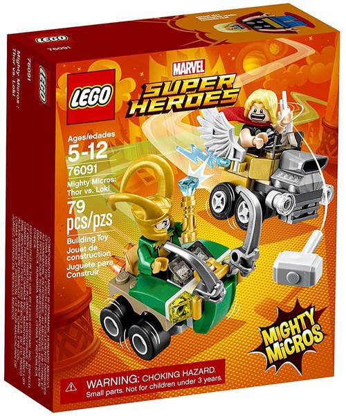 LEGO Marvel Super Heroes Mighty Micros Thor vs. Loki Set #76091