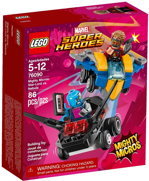 LEGO Marvel Super Heroes Mighty Micros Star-Lord vs. Nebula Set #76090