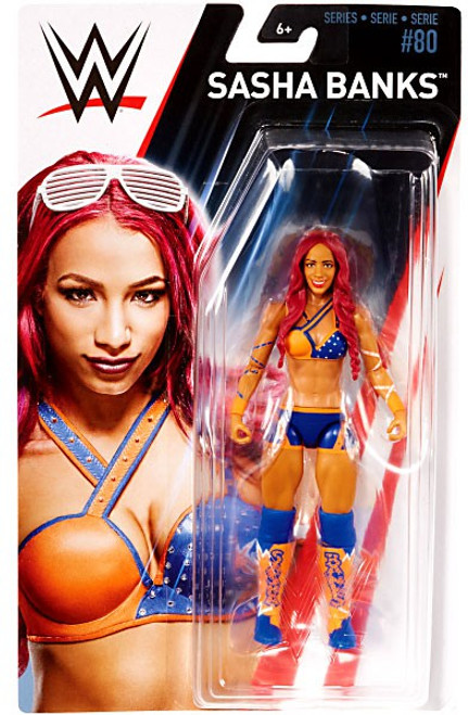 WWE Wrestling Series 80 Sasha Banks Action Figure