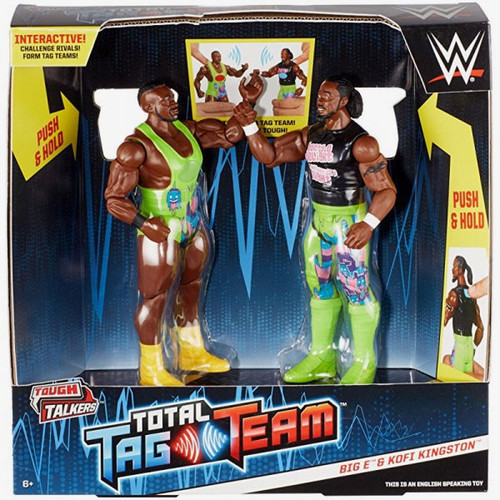 WWE Wrestling Battle Pack Tough Talkers Total Tag Team Big E & Kofi Kingston Action Figure 2-Pack