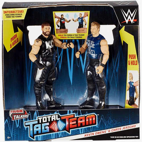 WWE Wrestling Battle Pack Tough Talkers Total Tag Team Kevin Owens & Chris Jericho Action Figure 2-Pack