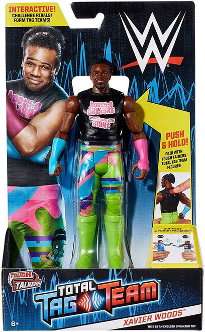 WWE Wrestling Tough Talkers Total Tag Team Xavier Woods Action Figure