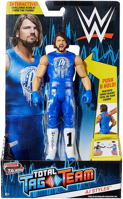 WWE Wrestling Tough Talkers Total Tag Team AJ Styles Action Figure
