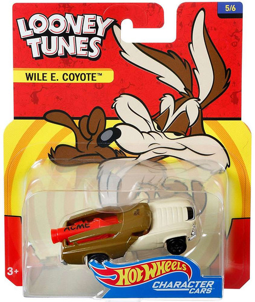 Hot Wheels Looney Tunes Character Cars Wile E. Coyote Diecast Car #5/6