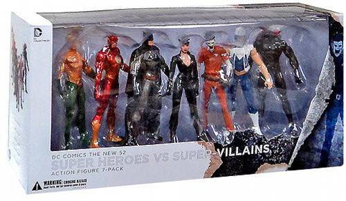 DC The New 52 Super Heroes vs. Super Villains Action Figure 7-Pack