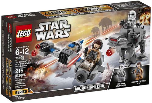 LEGO Star Wars Microfighters Series 5 Ski Speeder vs. First Order Walker Set #75195