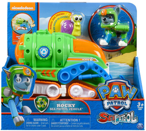 Paw Patrol Sea Patrol Rocky Vehicle & Figure [Sea Patrol Vehicle]