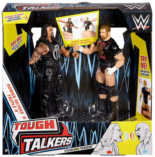 WWE Wrestling Battle Pack Tough Talkers Roman Reigns & Triple H Action Figure 2-Pack