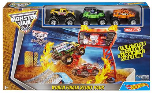 Hot Wheels Monster Jam 25 World Finals Champions World Finals Stunt Pack Exclusive Playset [World Champions 2013]