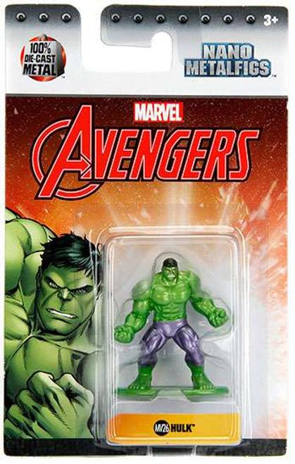 Marvel Avengers Nano Metalfigs Hulk 1.5-Inch Diecast Figure MV26