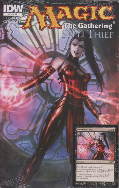Magic The Gathering #2 The Spell Thief Comic Book [Sealed with Consume Spirit Promo Card]