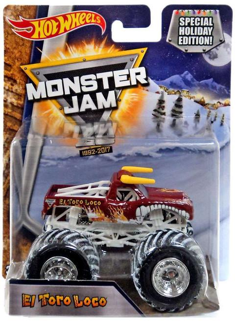 Hot Wheels Monster Jam 25 El Toro Loco Die-Cast Car [Special Holiday Edition]