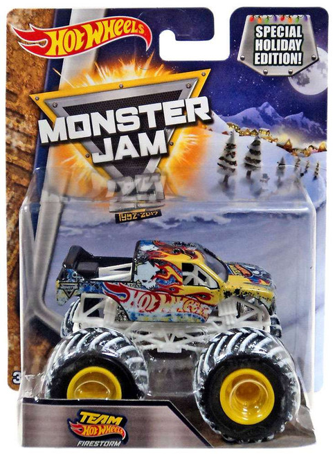 Monster Jam 25 Team Hot Wheels Firestorm Die-Cast Car [Special Holiday Edition]