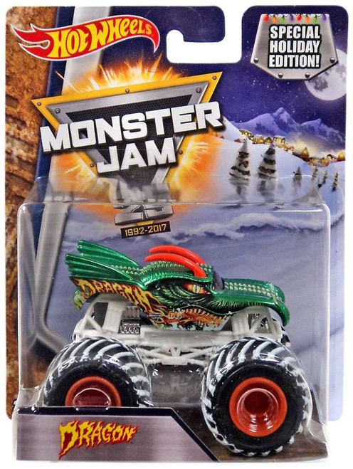 Hot Wheels Monster Jam 25 Dragon Die-Cast Car [Special Holiday Edition]