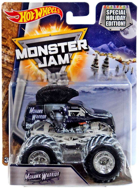 Hot Wheels Monster Jam 25 Mohawk Warrior Die-Cast Car [Special Holiday Edition]