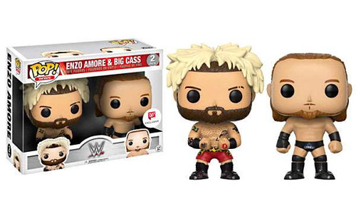 Funko WWE Wrestling POP! Sports Enzo Amore & Big Cass Exclusive Vinyl Figure 2-Pack [Damaged Package]