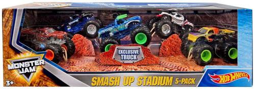 Hot Wheels Monster Jam 25 Epic Smash Up Stadium Diecast Car 5-Pack [with El Toro Loco]