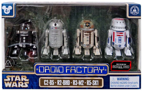 Disney Star Wars Rogue One Droid Factory Exclusive Action Figure 4-Pack [C2-B5, R2-BHD, R3-M2 & R5-SK1]