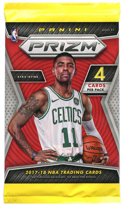 NBA Panini 2017-18 Prizm Basketball Trading Card RETAIL Pack [4 Cards!]