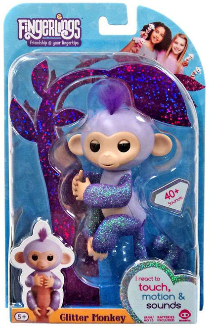 Fingerlings Glitter Monkey Kiki Figure