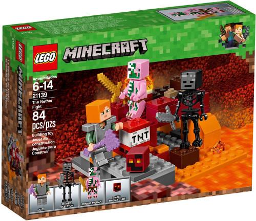 LEGO Minecraft The Nether Fight Set #21139