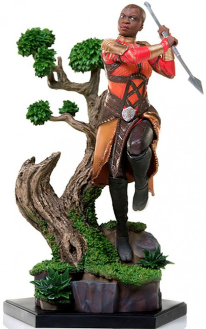 Marvel Black Panther Okoye Battle Diorama Statue