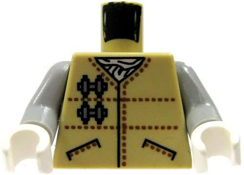 LEGO Star Wars Tan Cold-Weather Outfit Loose Torso [Hoth Rebel Loose]