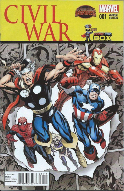 Marvel Comics Civil War #1 Comic Book [Comic Con Box Variant Cover]