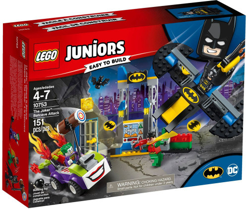 LEGO DC Juniors The Joker Batcave Attack Set #10753
