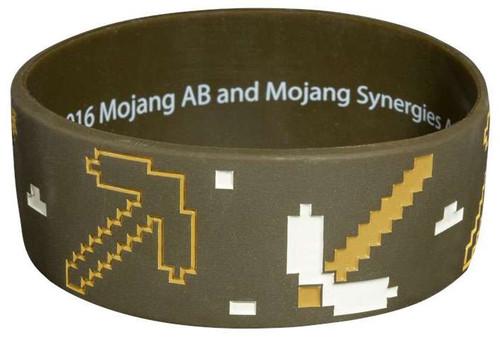 Minecraft Miner Rubber Bracelet
