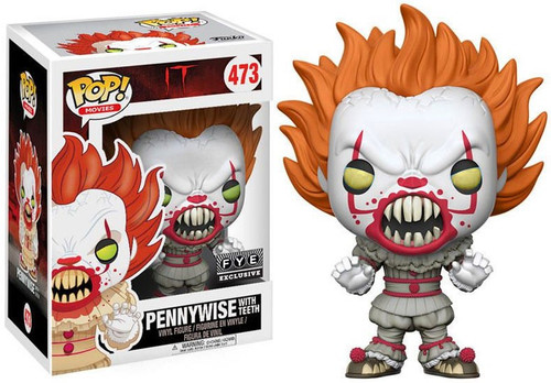 Funko IT Movie (2017) POP! Movies Pennywise with Teeth Exclusive Vinyl Figure #473 [Yellow Eyes]