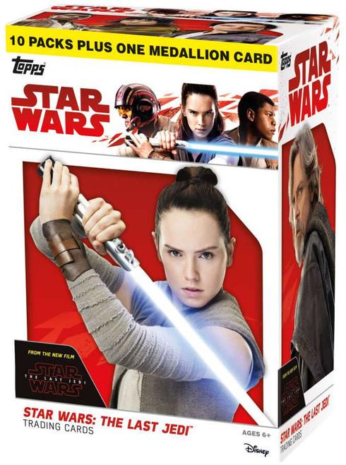 Star Wars 2017 The Last Jedi Trading Card BLASTER Box [10 Packs + 1 Medallion Card!]