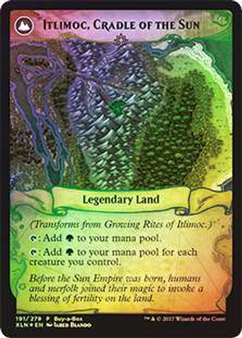 MtG Ixalan Promo Growing Rites of Itlimoc / Itlimoc, Cradle of the Sun [Buy-a-Box Promo Foil]