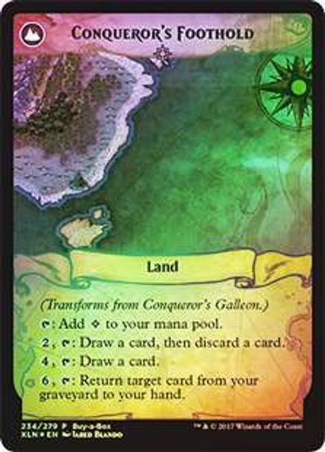 MtG Ixalan Promo Conqueror's Galleon / Conqueror's Foothold [Buy-a-Box Promo Foil]