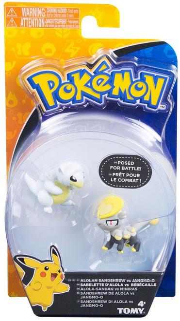 Pokemon Battle Action Alolan Sandshrew vs. Jangmo-o Action Figure