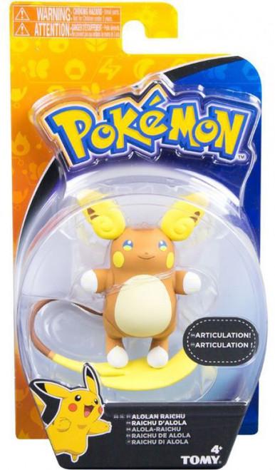 Pokemon Battle Action Alolan Raichu Action Figure