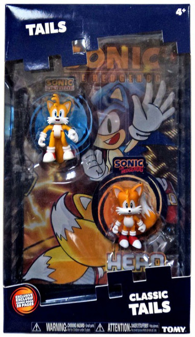 Sonic The Hedgehog Classic Tails & Modern Tails Action Figure 2-Pack [with Comic Book]