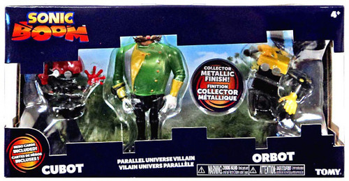 Sonic The Hedgehog Sonic Boom Orbot, Parallel Universe Dr. Eggman & Cubot Action Figure 3-Pack