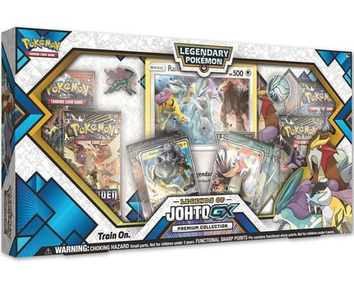 Pokemon Trading Card Game Legends of Johto GX Premium Collection [6 Booster Packs, 2 Promo Cards, Oversize Card, Pin & Coin!]