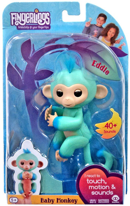 Fingerlings Baby Monkey Eddie Figure
