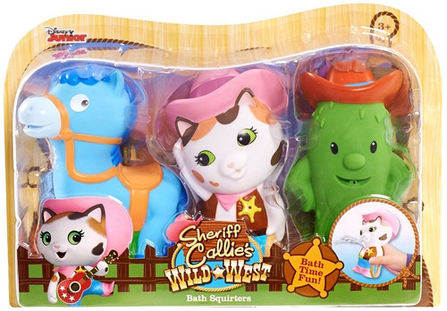 Sheriff Callie's Wild West Disney Junior Sheriff Callie, Toby & Sparky 2.5-Inch Bath Squirter 3-Pack