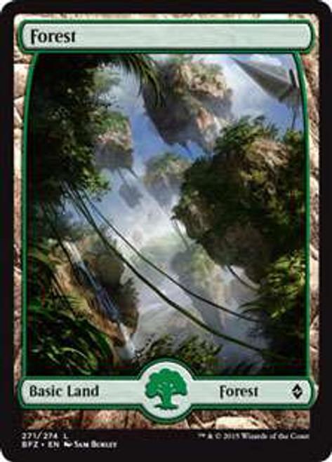 MtG Battle for Zendikar Land Forest #271 [Full-Art, Foil]