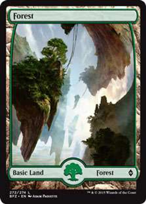 MtG Battle for Zendikar Land Forest #272 [Full-Art, Foil]